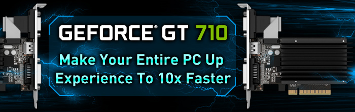 GAINWARD GeForce GT 710 Series – Make Your Entire PC